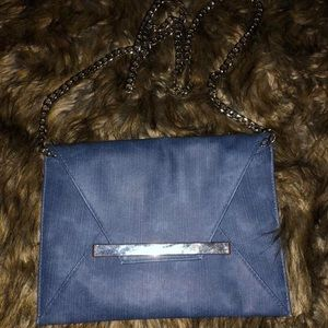 Jean purse/ clutch